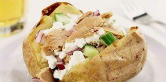 Pommes de terre farcies au thon et légumes