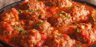 Boulettes viande sauce tomate