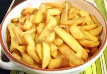 Frites cuites four