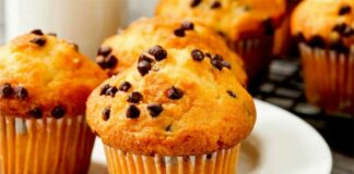 Muffins au potiron et chocolat