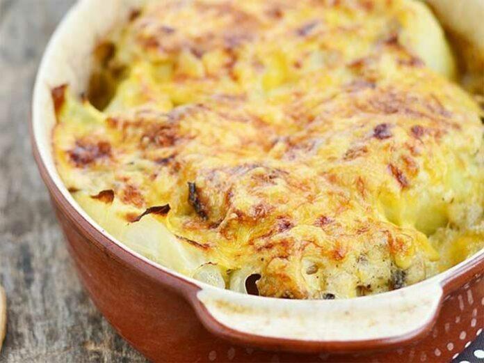 Pommes de terre crevettes gratinées