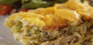 Quiche au poulet et brocoli sans pâte
