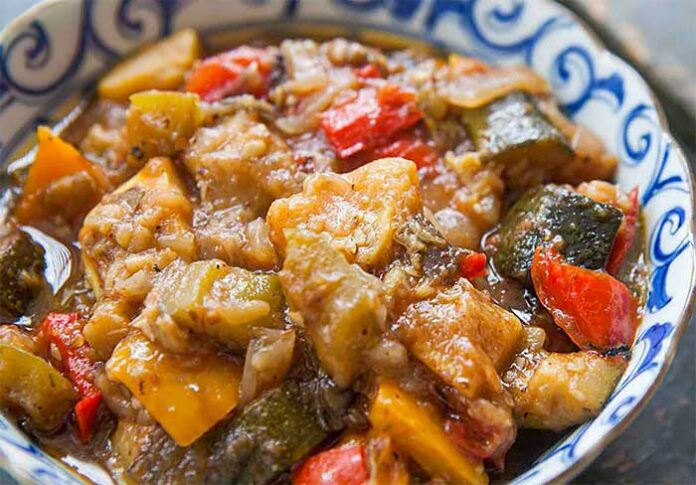 Ratatouille Weight Watchers cuite au micro-ondes