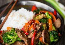 Wok de boeuf à la façon asiatique