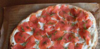 flammekueche au saumon