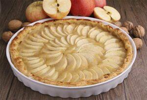 Gâteau de pain et de pommes
