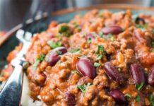 Chili con carne la recette ww légère
