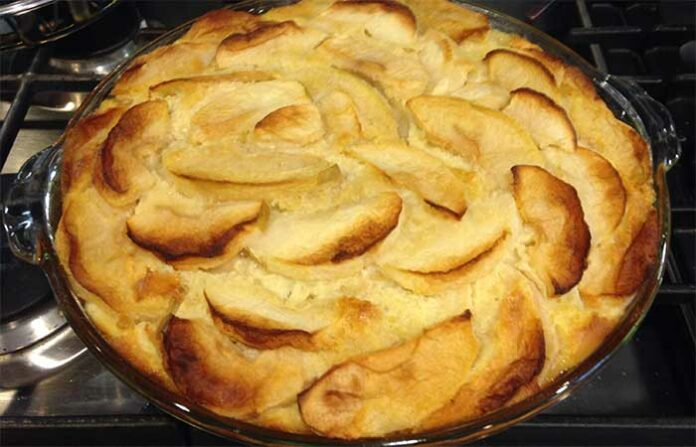 Clafoutis aux pommes et canelle