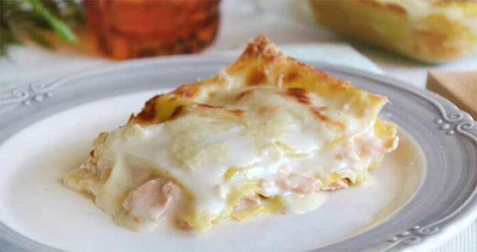 Lasagnes aux poireaux, saumon et ricotta