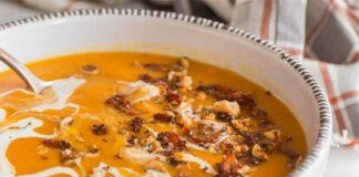 Velouté de Butternut au curry et aux noisettes au Thermomix