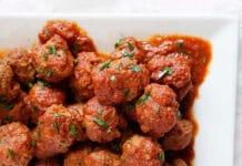 Boulettes de boeuf à la sauce tomate au Cookeo