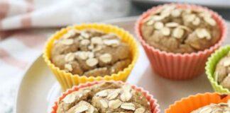 Muffins à l'avoine et banane