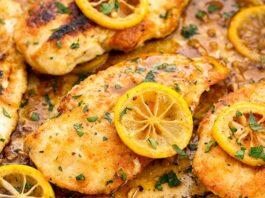 Poulet au citron et à l'ail