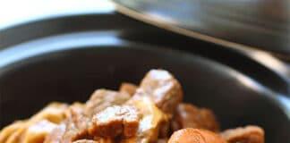 Boeuf aux légumes et à la sauce soja