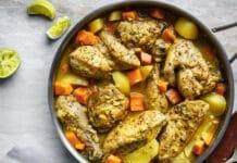 Colombo de poulet et légumes