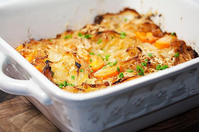 Gratin de navets carottes et pommes de terre