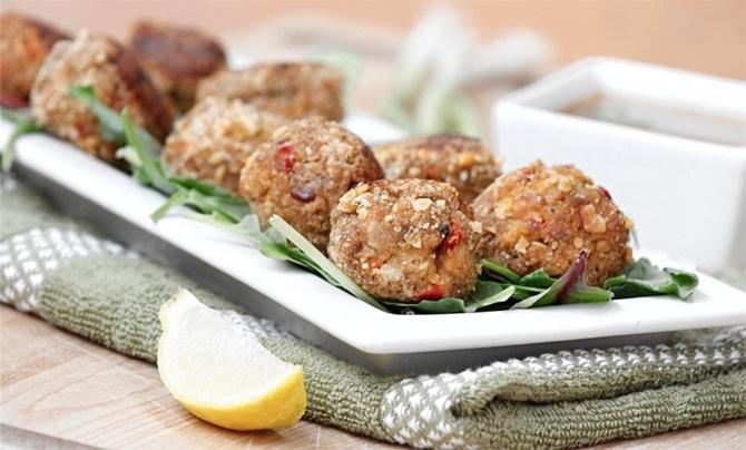 Boulettes de saumon et crevettes au Thermomix