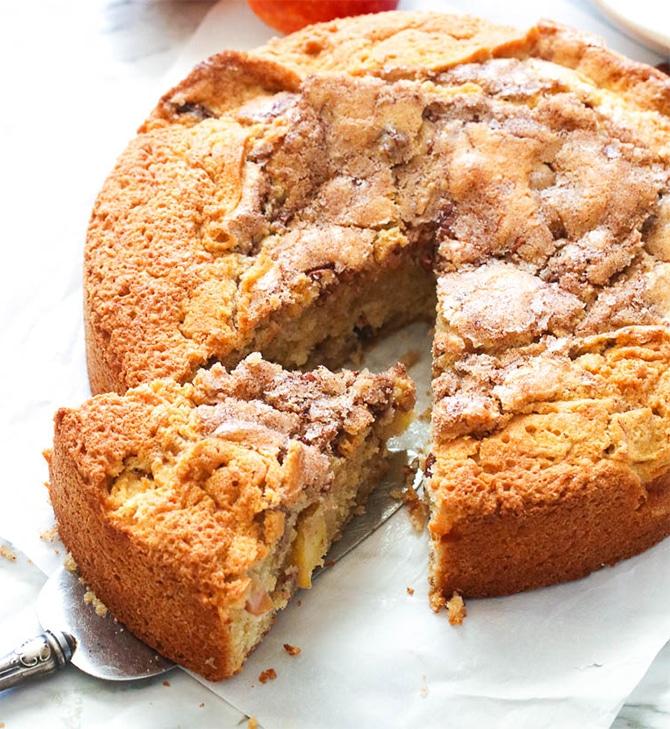 Cake au yaourt pommes et cannelle