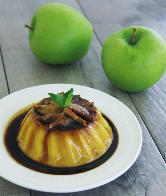 Flan léger aux pommes