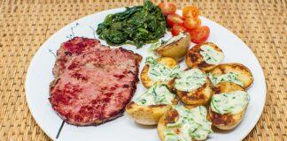 Rôti de bœuf aux pommes de terre sautées