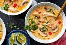 Soupe de poulet thaï au thermomix