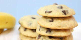 cookies aux bananes et pépites de chocolat