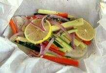 papillote de poisson aux légumes