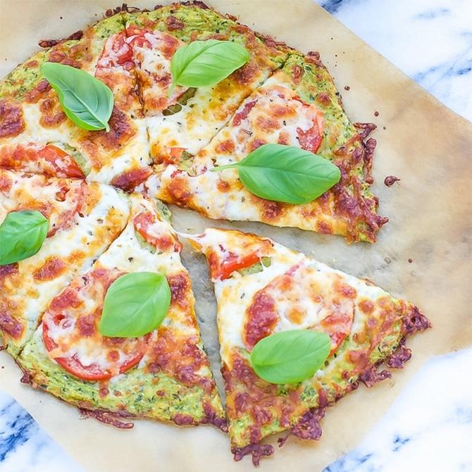 Pizza à la pâte aux courgettes au Thermomix