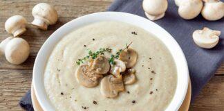 Soupe aux poireaux et champignons au Thermomix