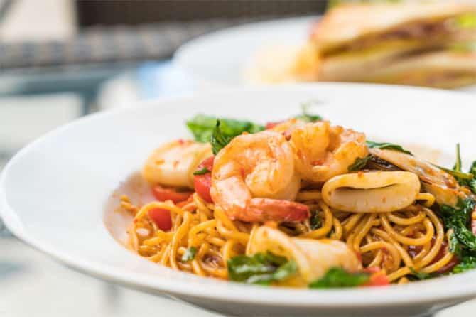 Spaghettis aux fruits de mer au Thermomix