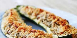 Courgettes farcies au fromage et thon