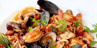 Spaghettis au fruits de mer au Thermomix
