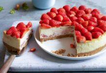 Cheesecake aux fraises et fromage frais