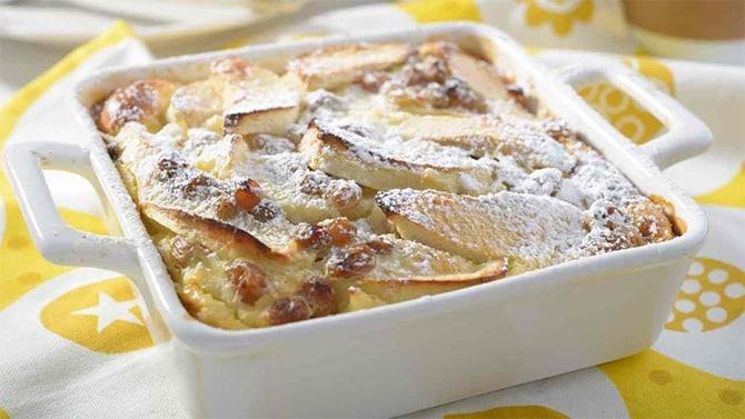 Clafoutis aux pommes et raisins secs