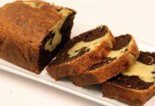 Gâteau marbré au chocolat yaourt et noix de coco