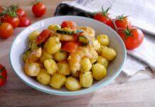 Gnocchis aux crevettes, courgettes et tomate au Thermomix