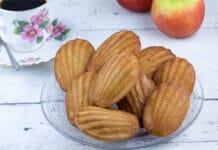Madeleines aux pommes et chocolat