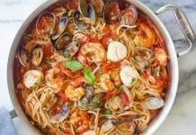 One pot pasta aux fruits de mer