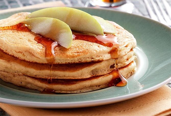 Recette des pancakes aux pommes