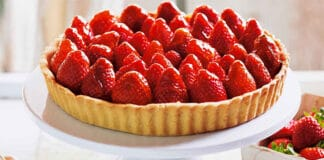 Tarte aux fraises sans beurre sans oeufs
