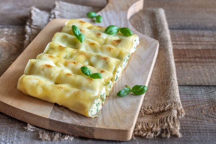 Cannellonis ricotta et épinards