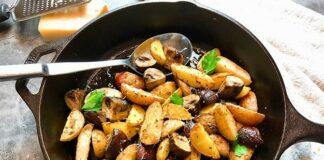 Poêlée de pomme de terre et champignons
