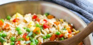 Salade complète de riz thon et légumes