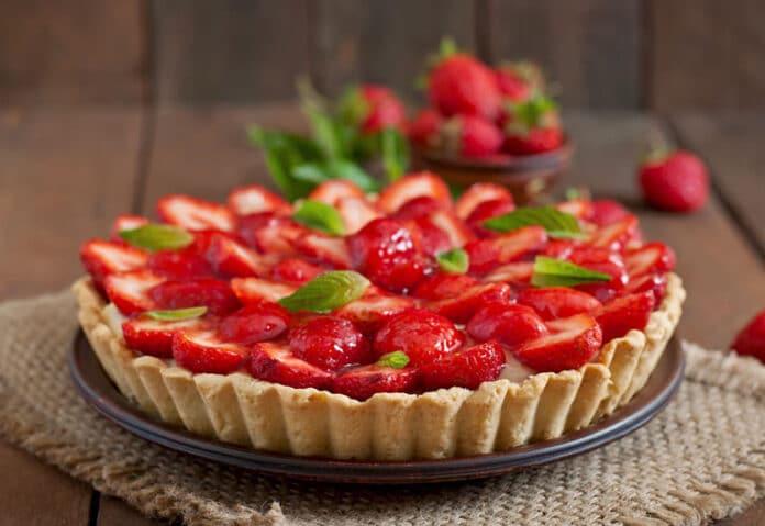 Tarte aux fraise avec pâte sans beurre