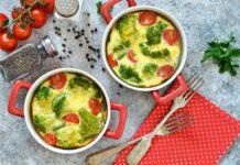 Clafoutis de brocoli et tomate