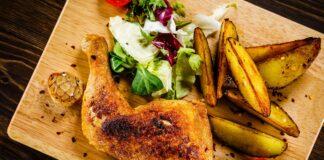 Cuisses de poulet et pomme de terre