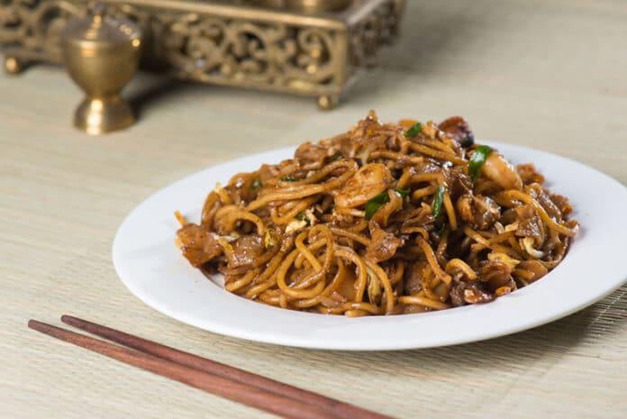 Nouilles chinoises aux crevettes au Thermomix