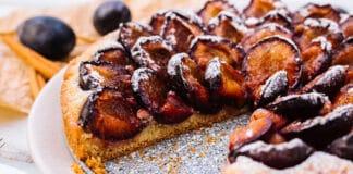 Tarte briochée aux prunes