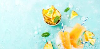 Sorbet à l'ananas et mangue