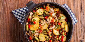 Poêlée de pomme de terre et légumes d'été